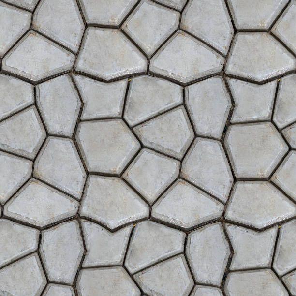 Seamless Texture Of Stones Garden Path Handmade Garden Floor