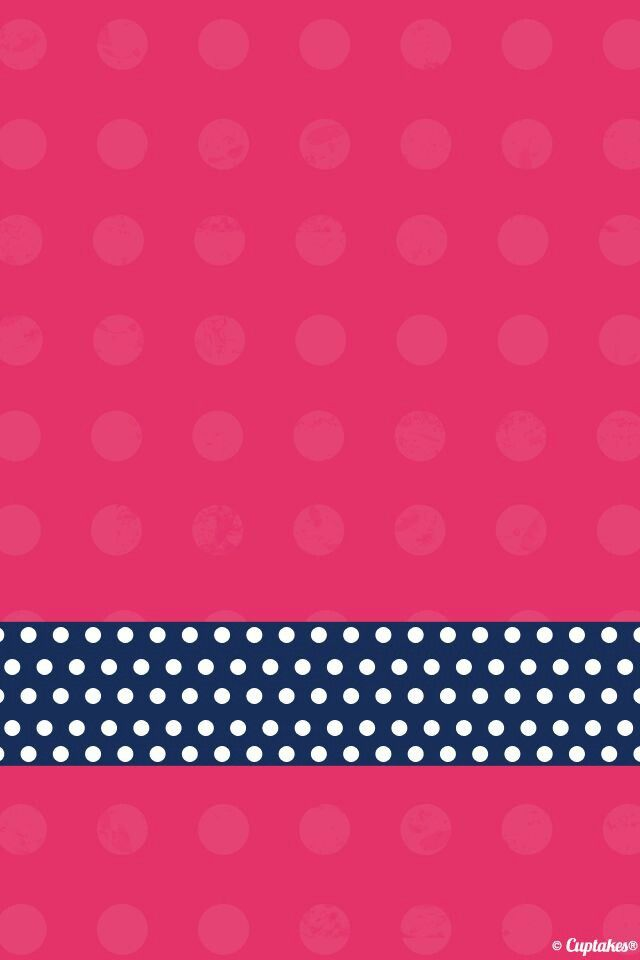 Polka dot wallpaper pretty phone wallpaper pinterest dots pink iphone wallpaper bing images voltagebd Images