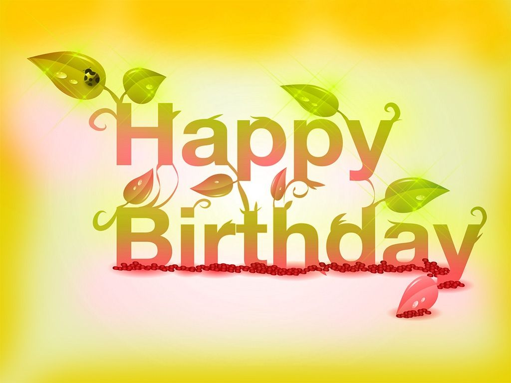 Happy birthday sunset colors with leaves | Birthday quotes ...