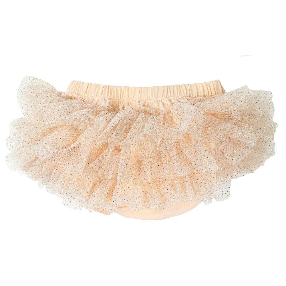 Peach Sparkle Tutu Diaper Cover