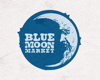 Blue Moon Market By 82design Beautiful Logos Design Round Logo Design Logo Design