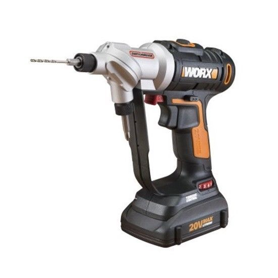 Worx Switchdriver 20v 1 5 Ah Cordless Lithium Ion Drilling Driving Functions Worx Drill Driver Drill Cordless Drill Reviews