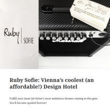 Ruby Sofie Hotel in Vienna Reviewed by Efzin - A Blissful Life