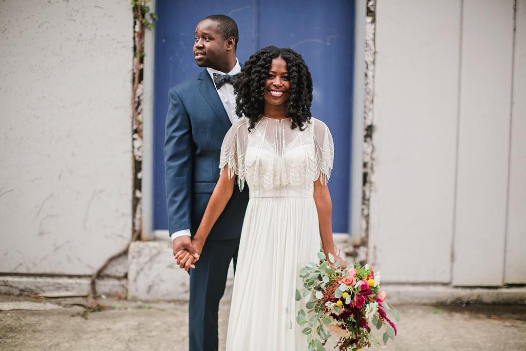 Abandoning the traditions of a big wedding Alicia and James decided to elope and put most of their money into the documentation of their strong black union. Leaving #memories not only for themselves but for men and women who look just like them. Read the rest of their story on the blog now!  Photography by @jayeads  #munaluchibride #munaluchi #realwedding #wedding #love #blacklove