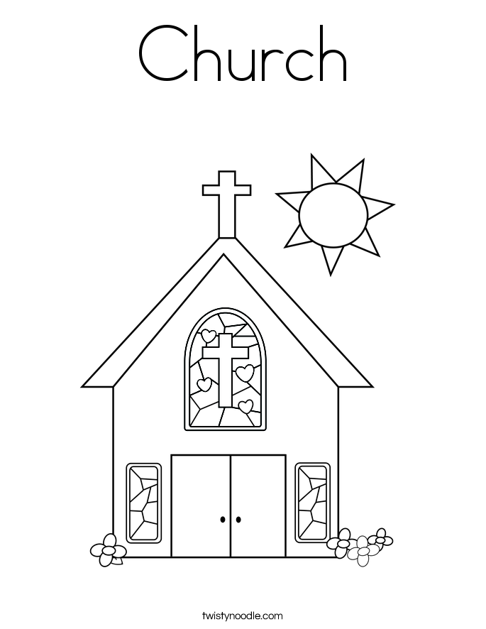 church with stained glass window coloring page sunday school colouring pages i love jesus