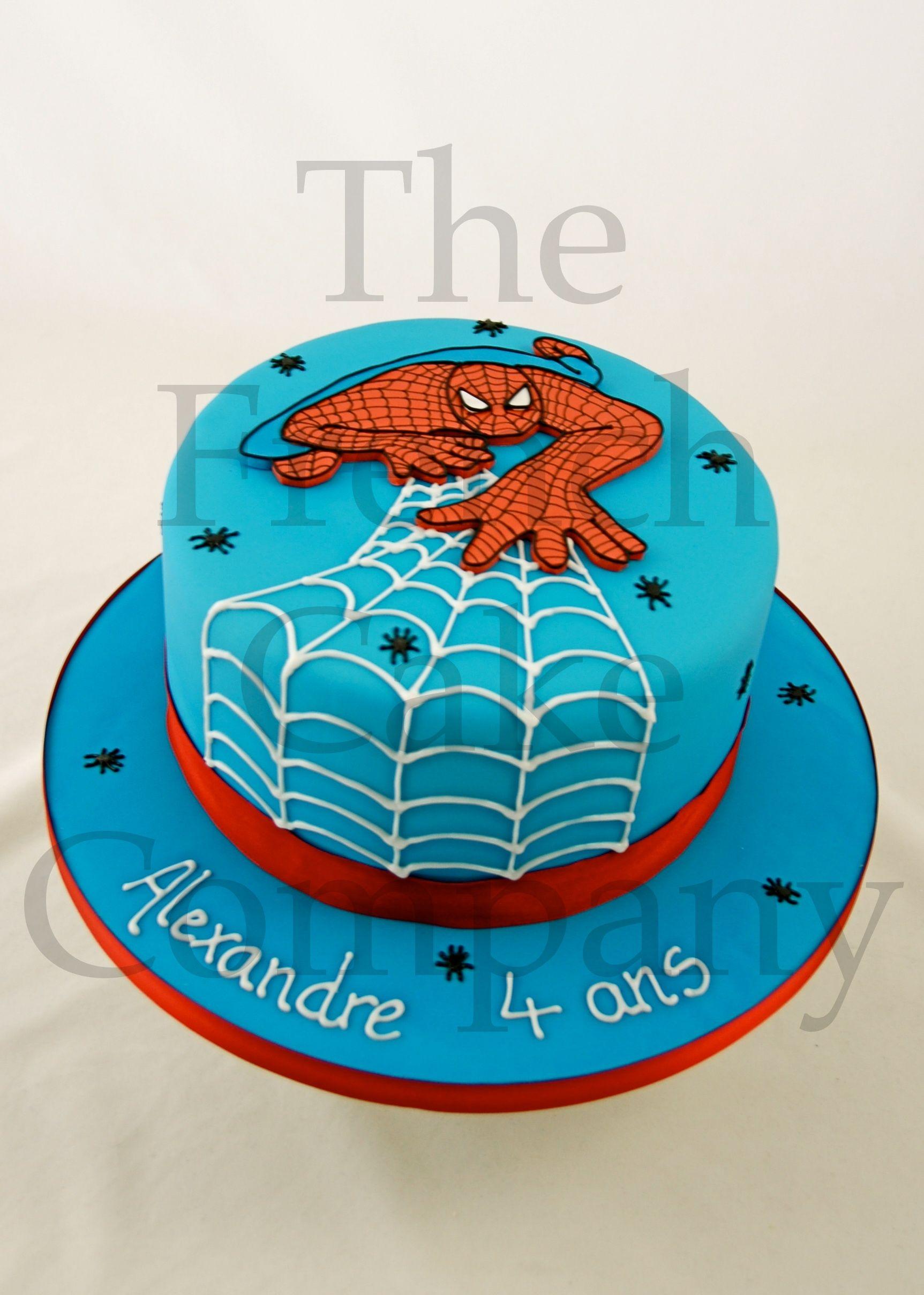 cake for boys spiderman gateau d 39 anniversaire pour enfants garcon spiderman verjaardagstaart. Black Bedroom Furniture Sets. Home Design Ideas