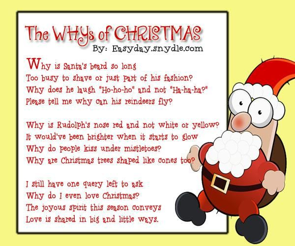Famous Christmas Poems Funny Merry