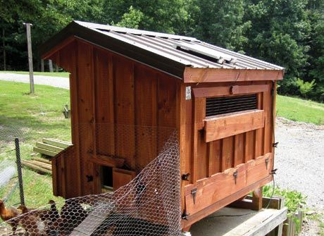 Solar powered chicken coop- tutorial not sure why it's solar powered...but i can find out.