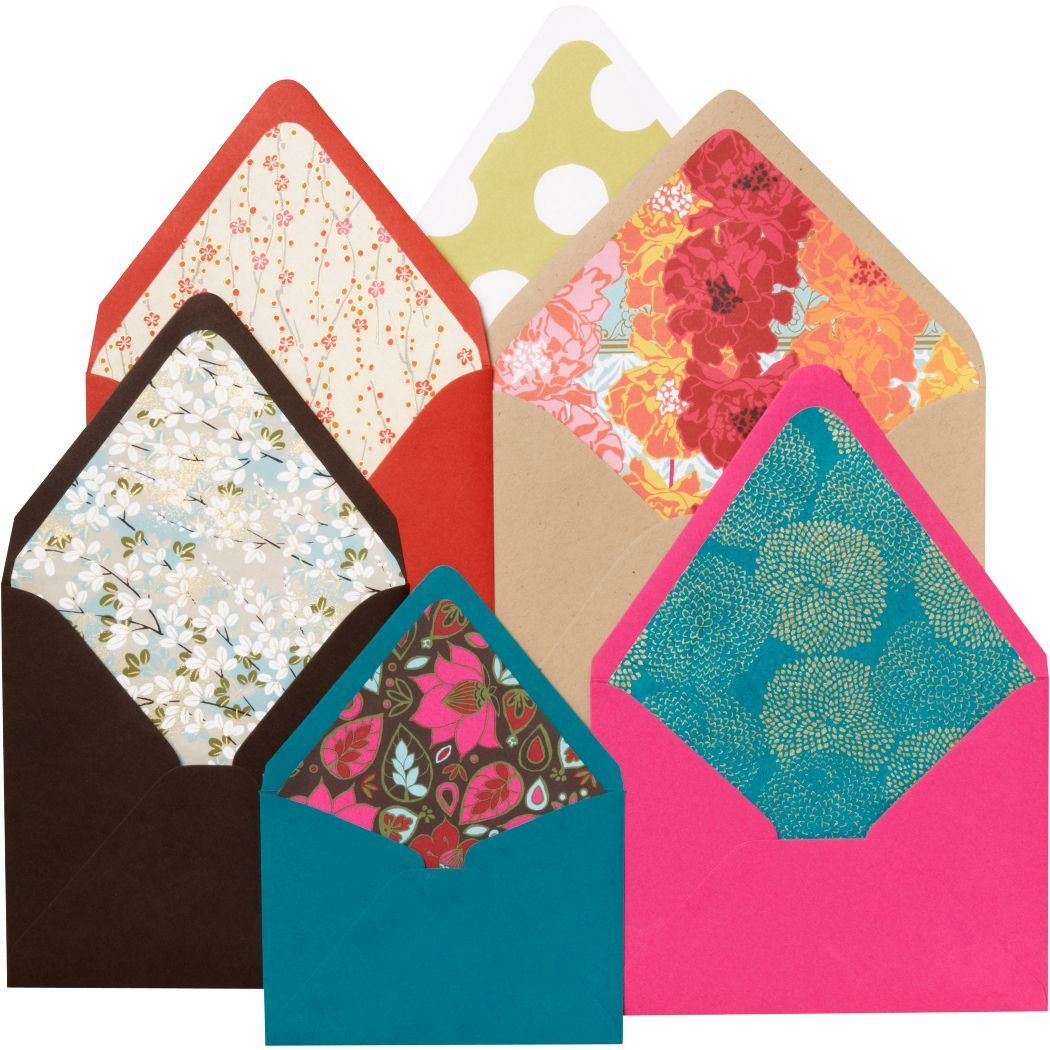 Make Pretty Envelopes Or Envelope Inserts This A Template For