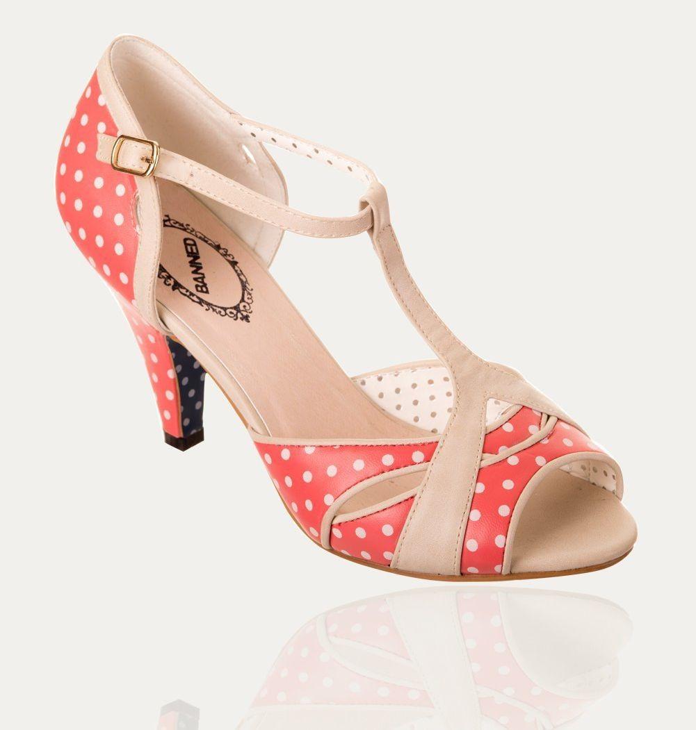 4bfcfd1c74ec1d Chaussures Escarpins Pin-Up Rockabilly 50's Norma Pois Polka ...