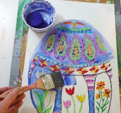 easter art oil pastels tempera paint jeneandrews crafts