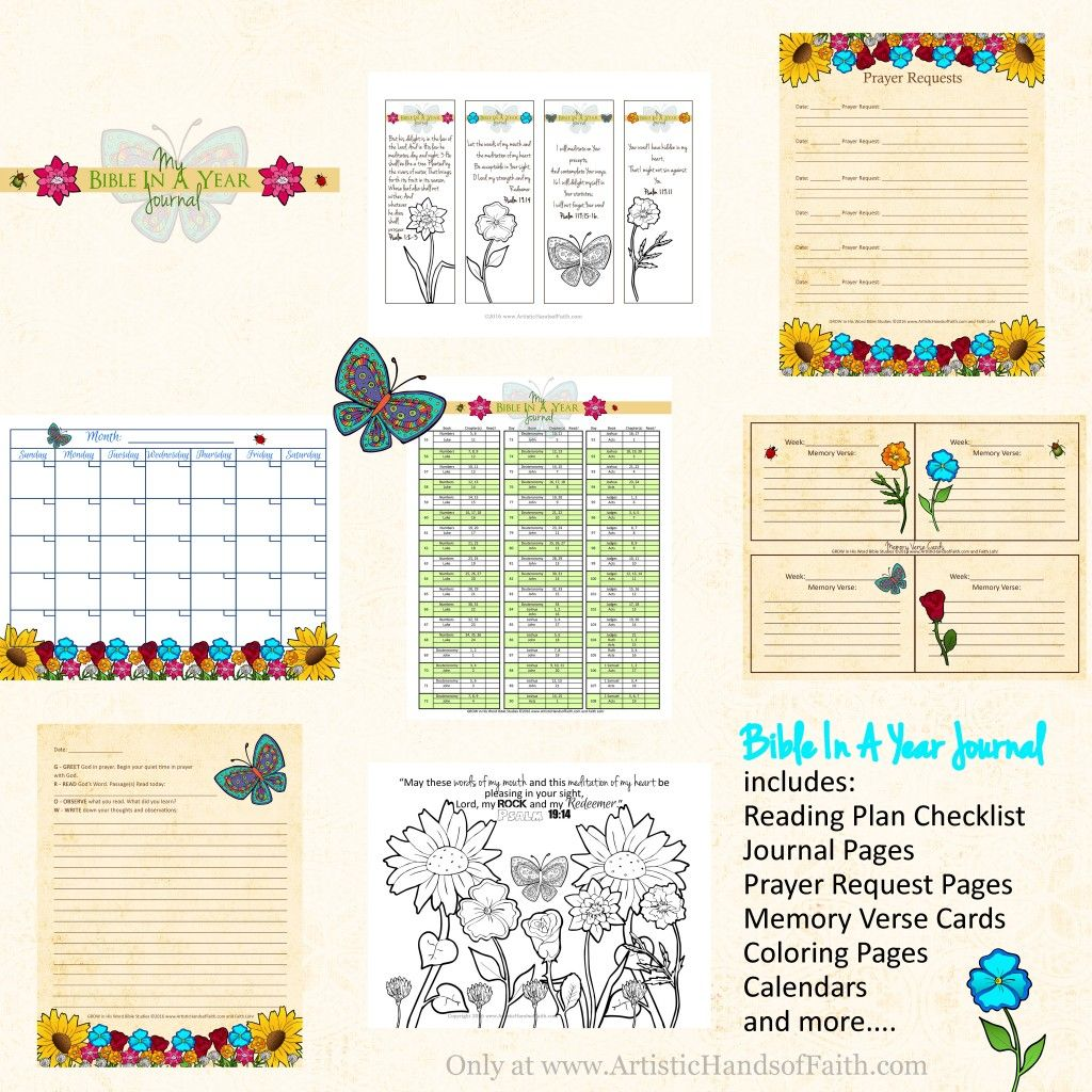 Bible in a year reading plan and journal free download
