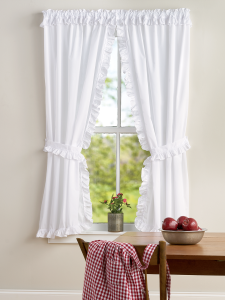 Narrow Ruffles Rod Pocket Priscilla Curtains In 2020 Curtains