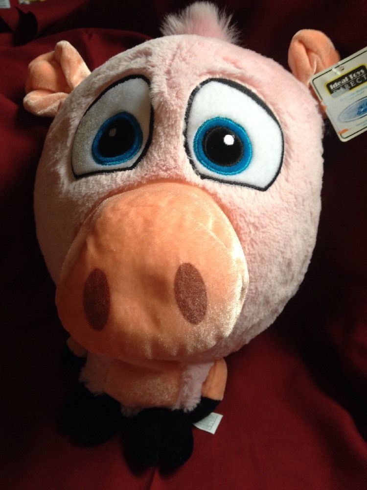Nwt Ideal Toys Direct Pig Plush Toy Small Body Big Head Pink Stuffed