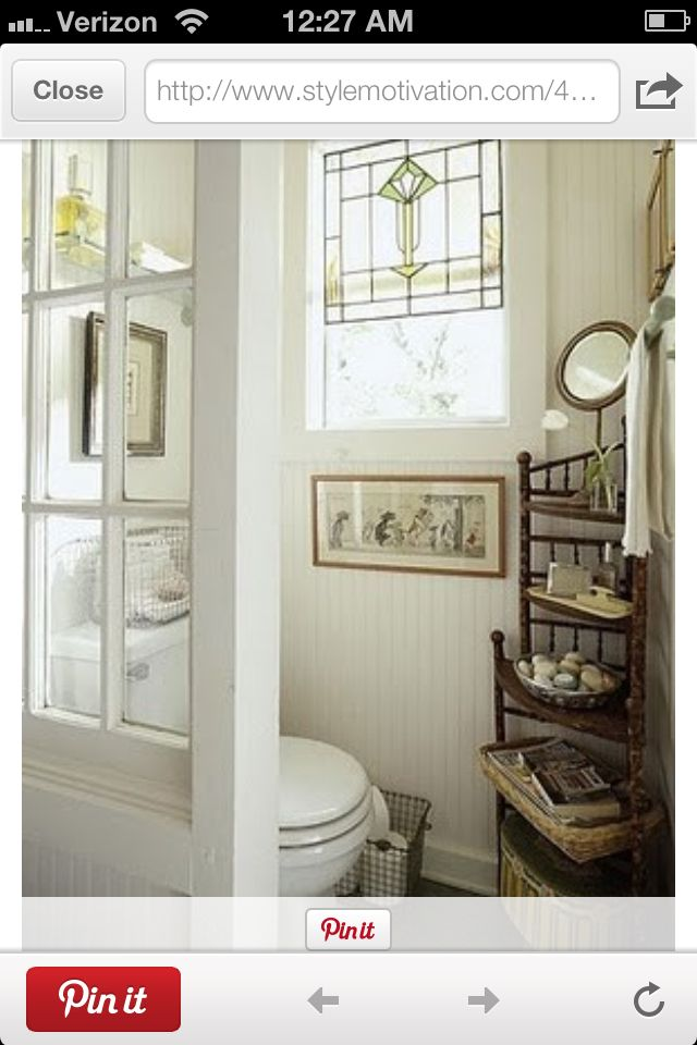 """Love this idea to separate the toilet instead of a """"toilet ..."""