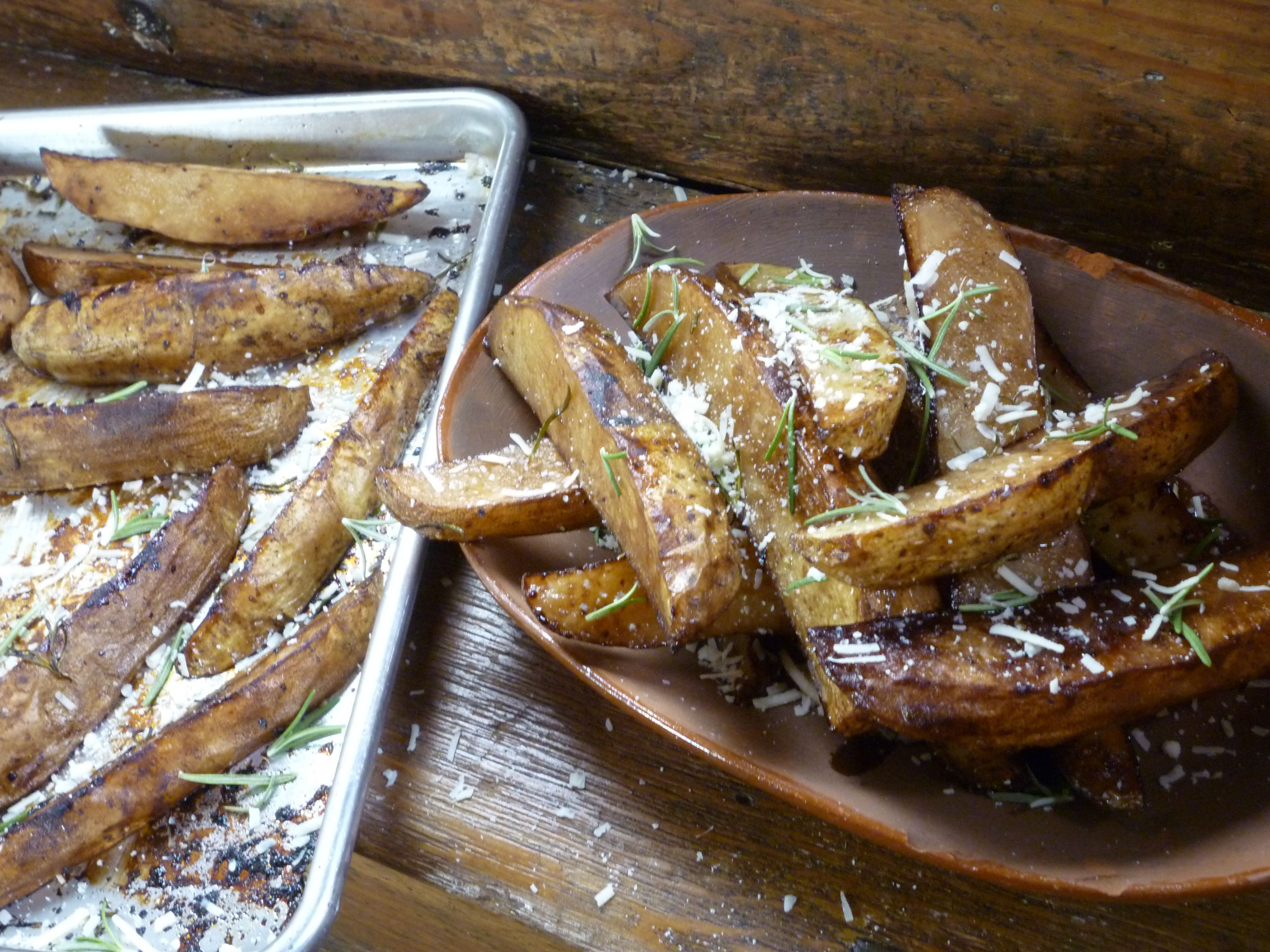 Farmhouse Rules Beer Braised Brisket Roasted Russet Wedges With Balsamic Vinegar And Rosemary