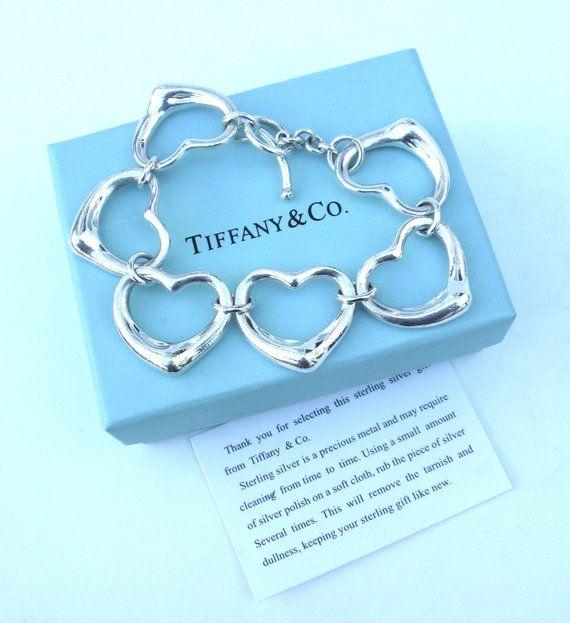 96bbcdd22 iconic vintage Tiffany & Co sterling silver heart bracelet ... elsa peretti  ... floating open h