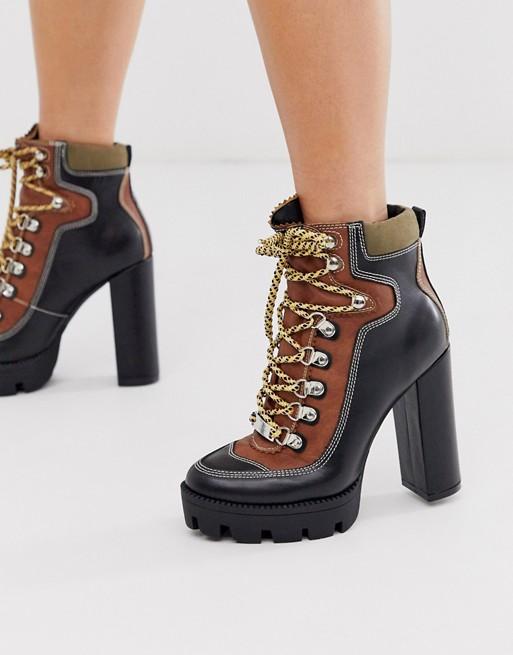 Dakota chunky hiker ankle boots