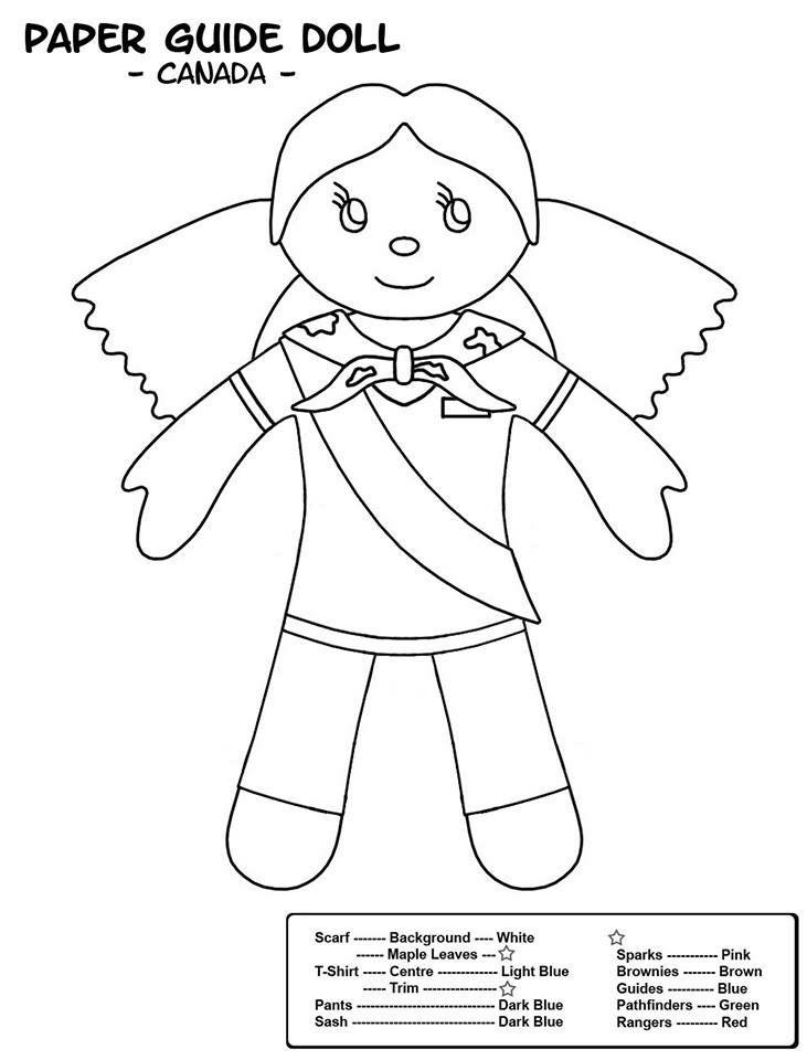 Canadian Colouring Sheet | Girl Guides | Pinterest | Girl guides ...