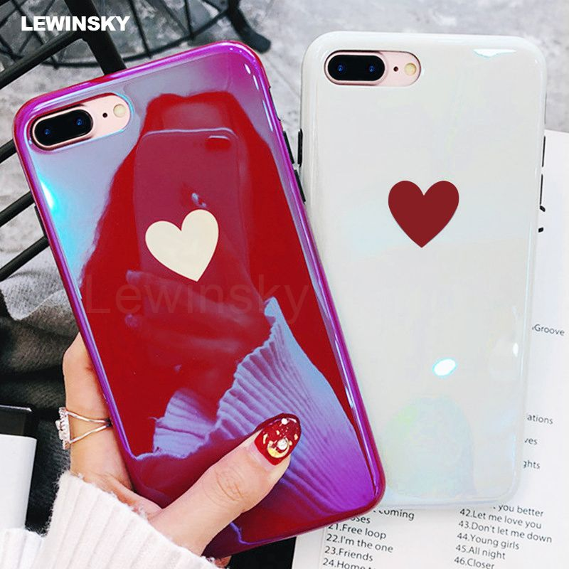 Cute Iphone 8 Case Love Heart Iphone 6 7 8 Plus X Protection Iphone 7 Cases Iphone Case