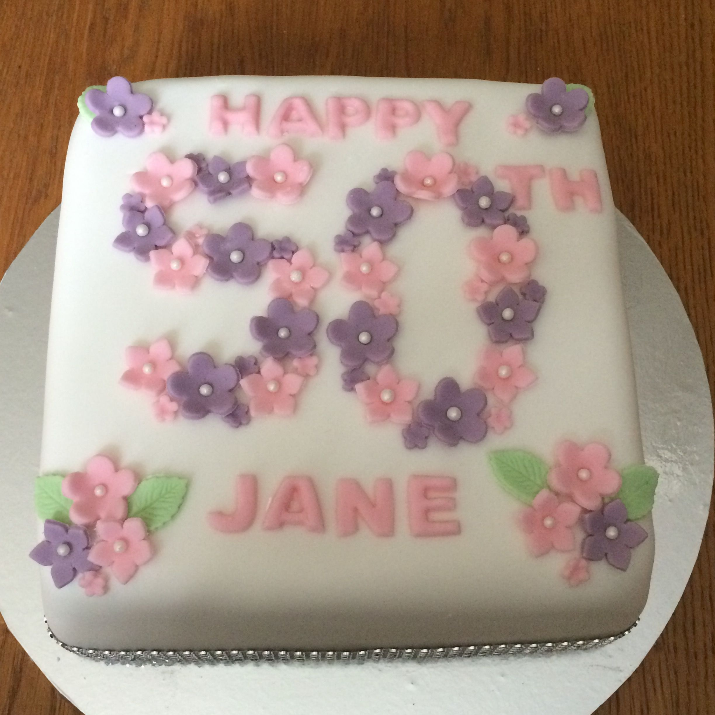 Pretty 50th birthday cake 50th birthday cake, Cake, How