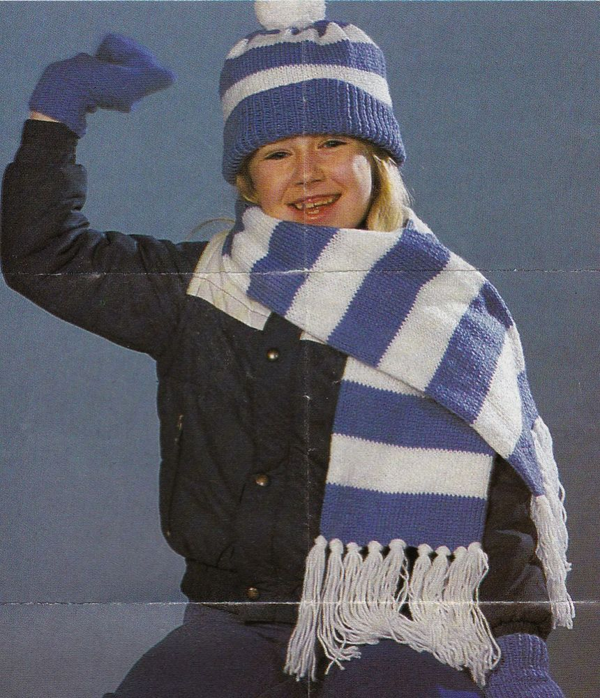 Vintage Knitting Pattern Instructions for Child's Hat ...