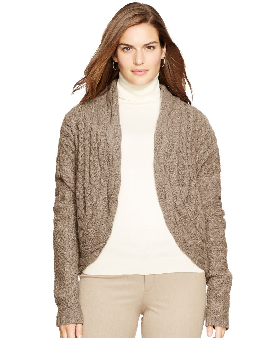 Lauren Ralph Lauren Plus Size Cable-Knit Cardigan | Products ...