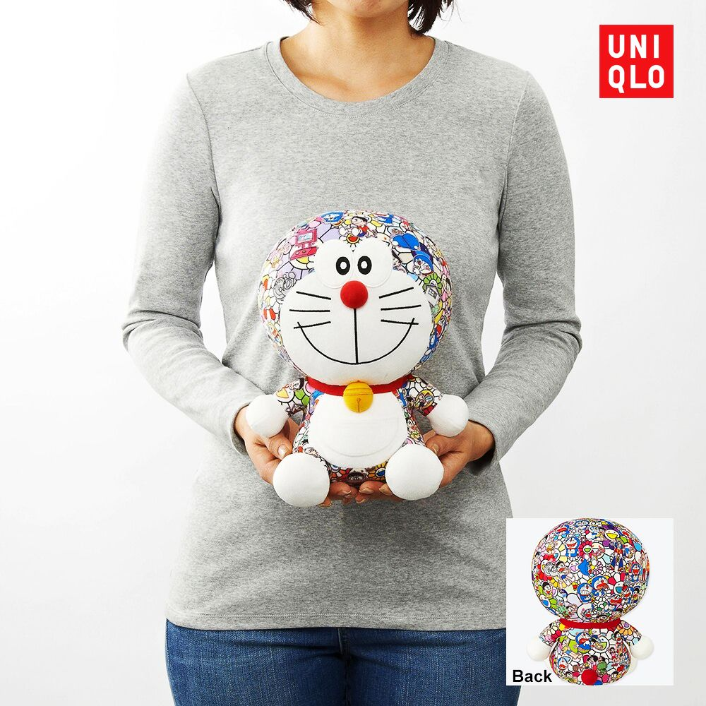 uniqlosg doraemonpost ut x takashipom plush toy from 49 90 t shirts from 14 90 don t care uniqlo orchard and onl doraemon takashi murakami murakami