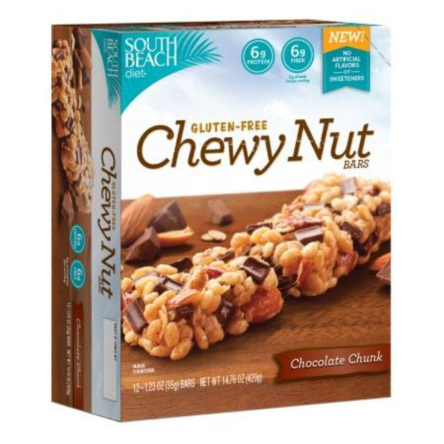 South Beach Diet Gluten-Free Chewy Nut Bars Chocolate