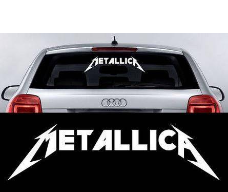 Metallica Schriftzug Car Auto Racing Windshield Sticker