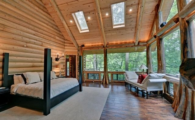 23 exemples de chambres coucher avec fen tres de toit. Black Bedroom Furniture Sets. Home Design Ideas