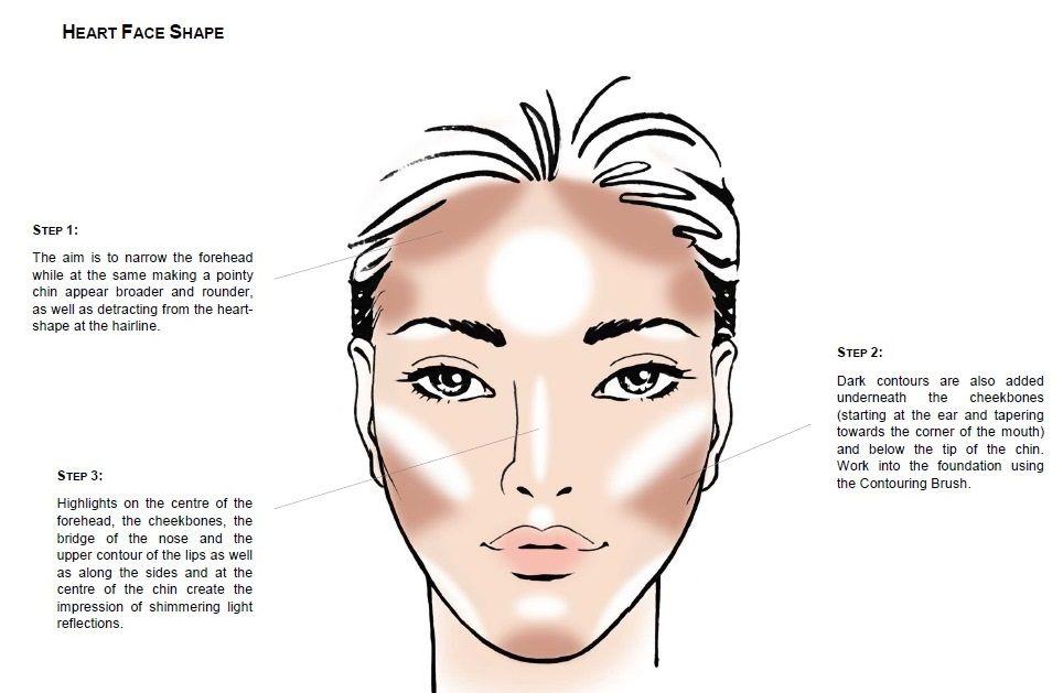 Contouring Heart Shaped Face Make Me Up Pinterest Makeup