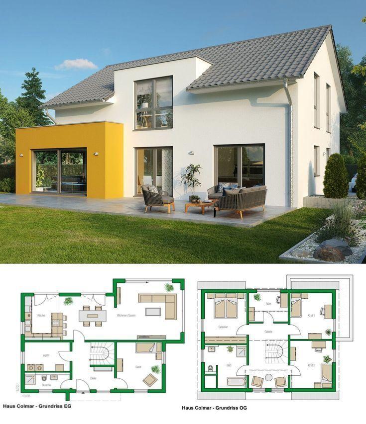 Modernes Architekturdesign Hausplan Casa Colmar