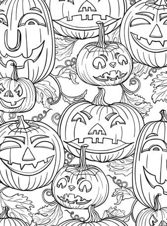 Página de vacaciones - calabaza | Halloween | Pinterest | Coloring ...