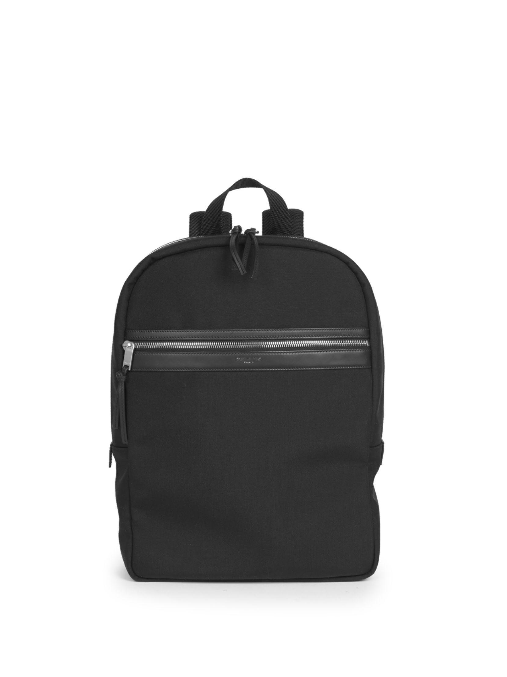 SAINT LAURENT Classic Zip Canvas Backpack  1e9176c63d9d3
