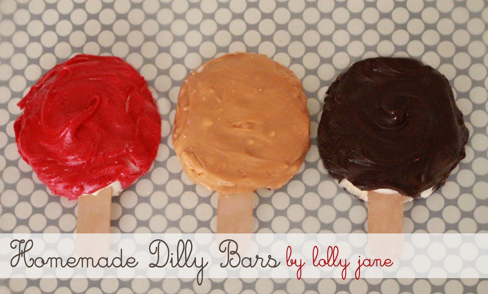 Homemade Dilly Bars- Would be good with candy bits