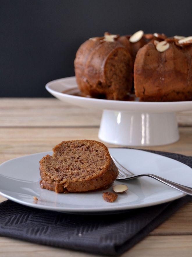 Banana Cake with Almond Butter Glaze (use GF Flour Mix)