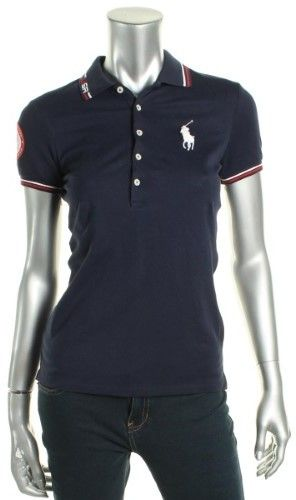40a514aee09c8 Polo Ralph Lauren Womens USA Olympic Polo Top