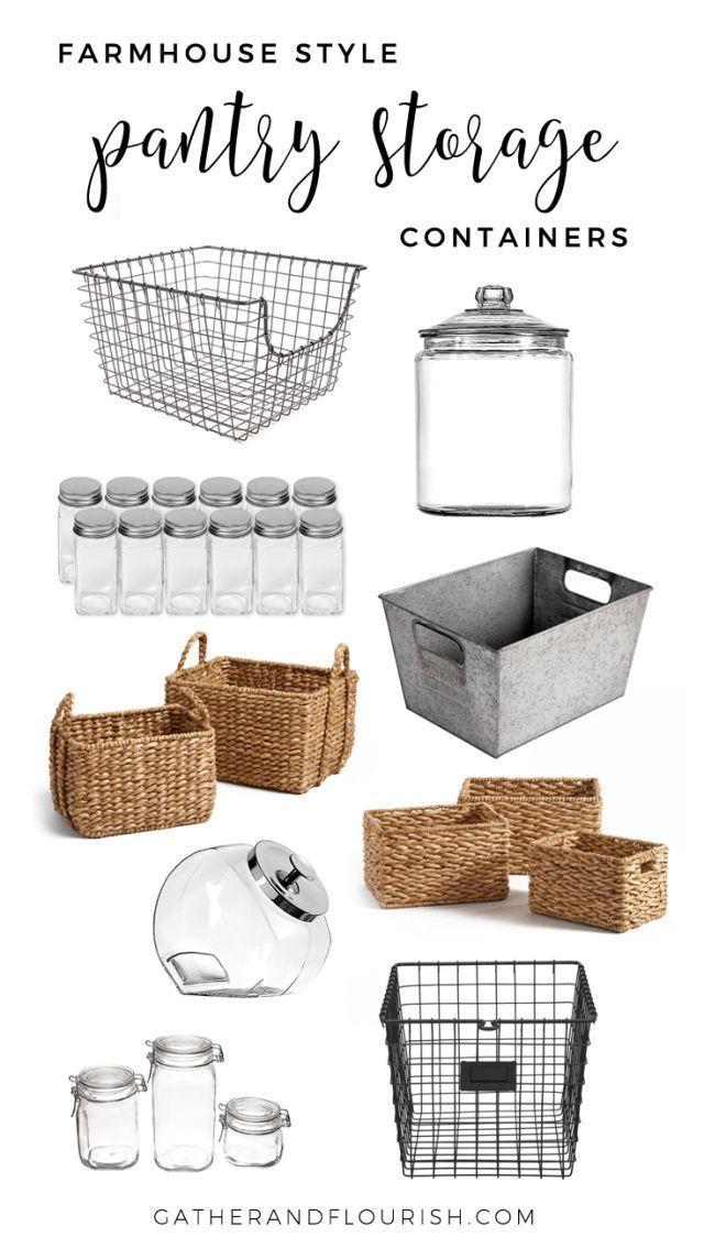 Farmhouse Style Pantry Storage - Gather and Flourish