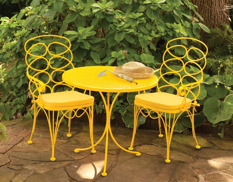 Wrought Iron Rust Free Gelati Bistro Set Is Perfect For That