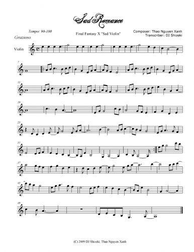 sad romance | Music in 2019 | Violin sheet music, Violin