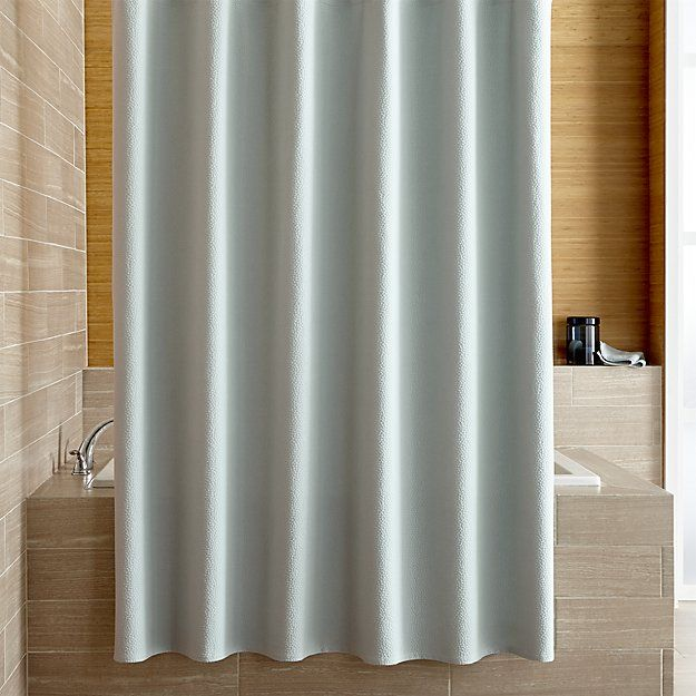 Pebble Matelasse Spa Blue Shower Curtain Crate And Barrel Spa