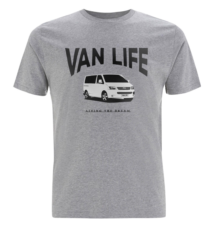 Van Life T5 logo T-Shirt - Volkswagen campervan, camper, VW Transporter T5 T4 T3 bus, classic splitscreen, splitty, surf bus, veedub by VANLIFESTORE on Etsy