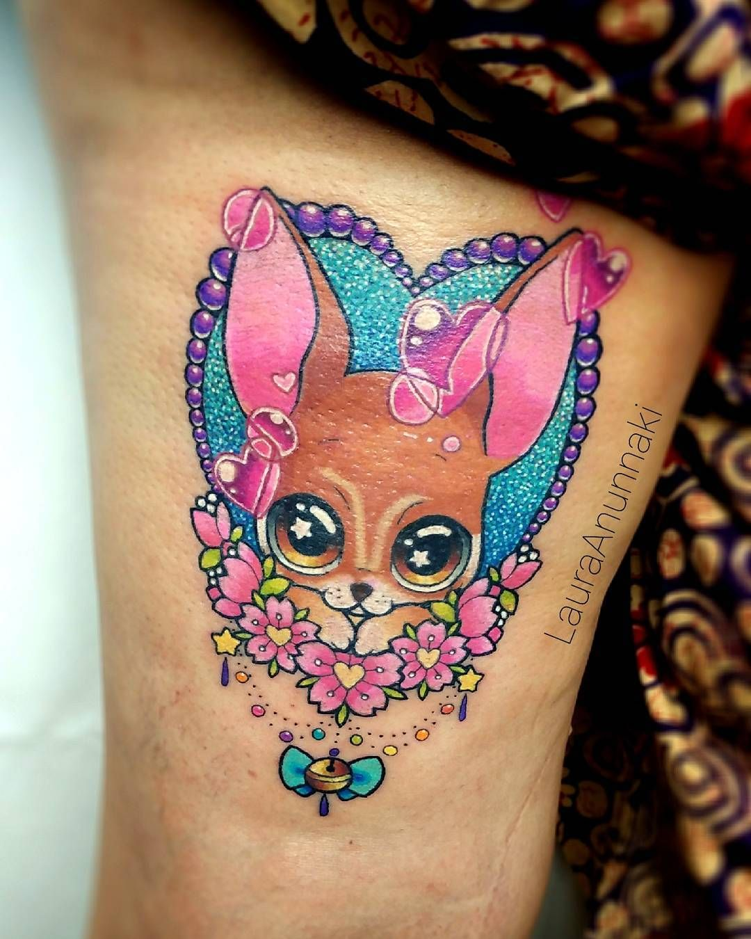 Holi, espero les guste este tatuaje de este perrito #chihuahua ...