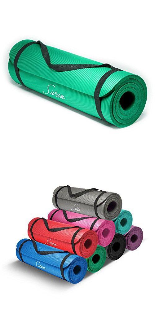 Sivan Health And Fitness 1 2 Inchextra Thick 71 Inch Long Nbr Comfort Foam Yoga Mat For Exercise Yoga And Pilates Green Yoga Mat Yoga Mat Bag Gaiam Yoga Mat