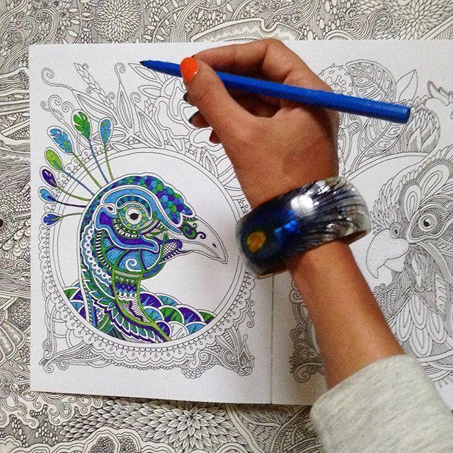 Peacock 🍃 My coloring book 🌸Biblio-globus.us (find: ветер ...