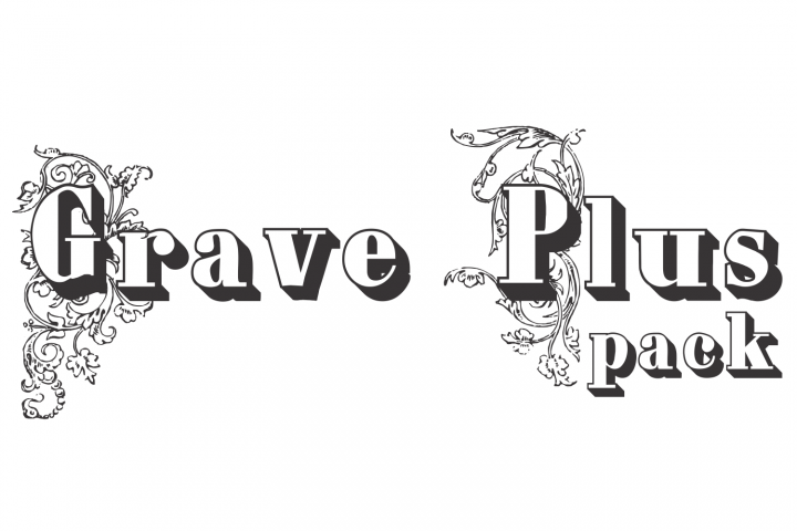 Download Grave Plus (pack) | Commercial use fonts, Classic fonts ...