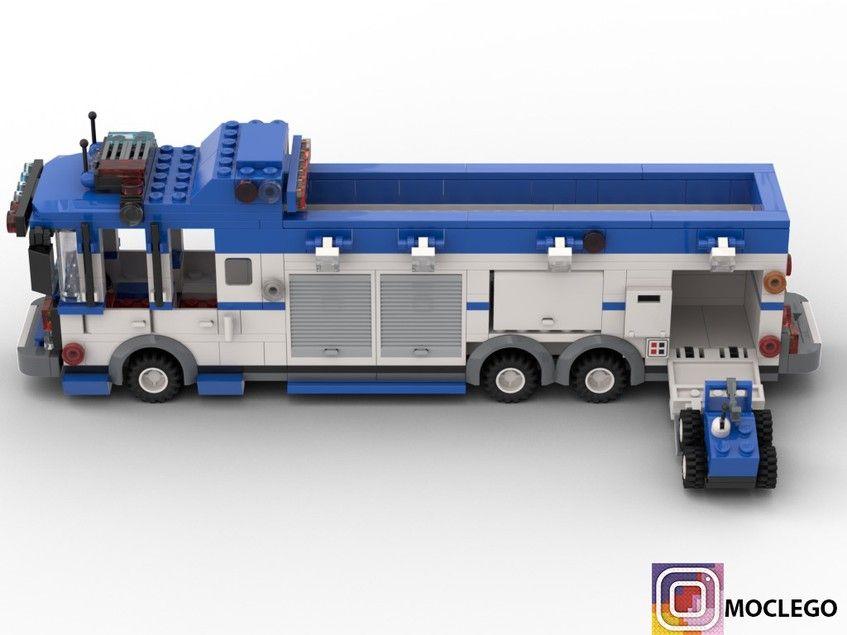 Rask Police Anti-Bomb squad truck | Legók | Lego truck, Lego police QB-25