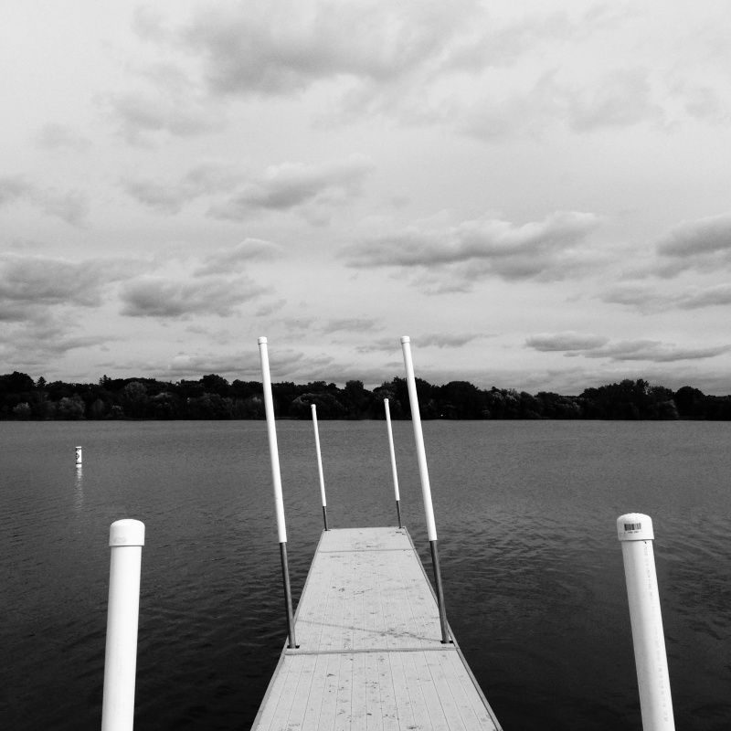 If it's not a right angle, it's a wrong angle. Dock on Lake Nokomis in Minneapolis. | Bradley Hanson | VSCO Grid