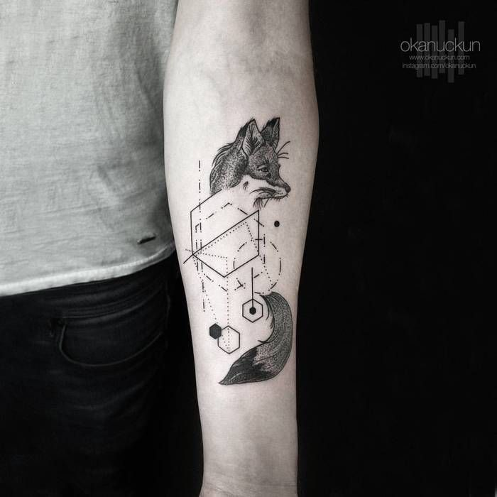 Minimalist Geometric Tattoos By Okan Uckun Tattoobloq Geometric Tattoo Fox Tattoo Tattoo Designs